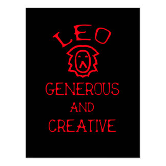 Leo (Red Text) Postcard