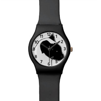 Leo Siamese Cat Watch (white face)