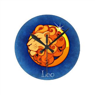 Leo Sign Wall Clock