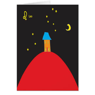 Leo star sign birthday card