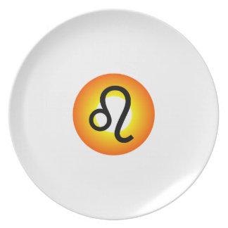 LEO SYMBOL DINNER PLATE