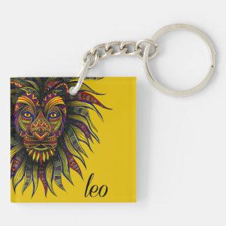 Leo Symbol Key Ring
