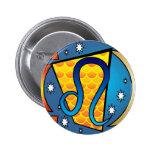 Leo Symbol Pinback Buttons