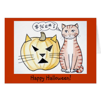 Leo The Cat - Halloween Card