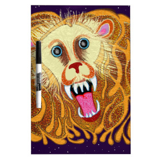 Leo the Golden Lion Dry Erase White Board