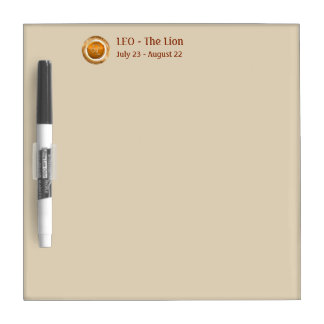 LEO - The Lion Astrological Sign Dry Erase Board