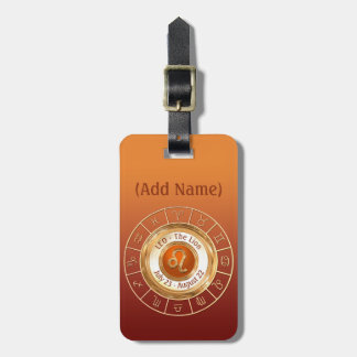 LEO - The Lion Astrological Sign Luggage Tag