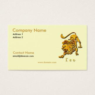 Leo the Lion Business Card