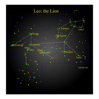 Leo The Lion Constellation Poster