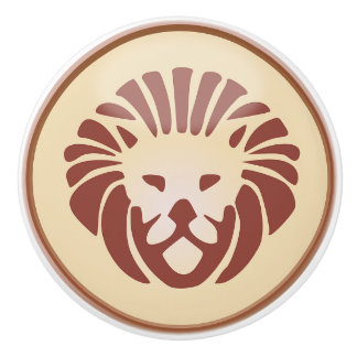 Leo, The Lion, Horoscope Sign Zodiak Knob