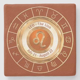 LEO - The Lion Horoscope Symbol Stone Coaster