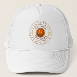 LEO - The Lion Horoscope Symbol Trucker Hat