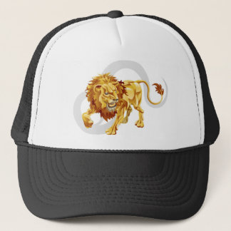 Leo the lion star or birth or zodiac sign trucker hat
