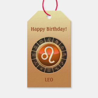 Leo - The Lion Zodiac Sign Gift Tags