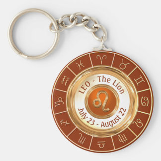 LEO - The Lion Zodiac Sign Key Ring