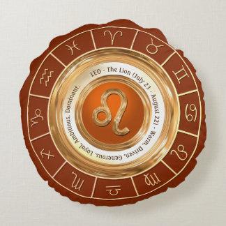 LEO - The Lion Zodiac Sign Round Cushion