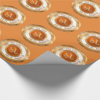 LEO - The Lion Zodiac Sign Wrapping Paper