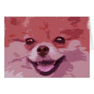 Leo the Pomeranian card
