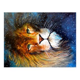 Leo, the star lion. postcard