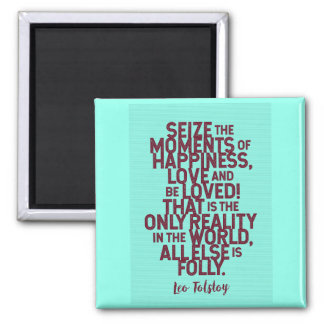 Leo Tolstoy Quote On Happiness / Love Magnet