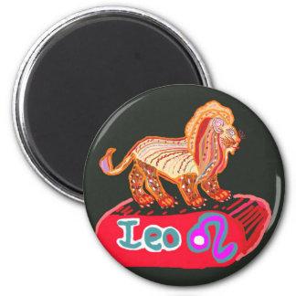 LEO ZODIAC 6 CM ROUND MAGNET