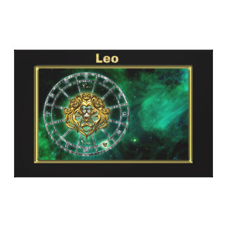 Leo Zodiac Astrology design Canvas Print