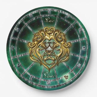 Leo Zodiac Astrology design Paper Plate