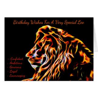 Leo Zodiac Birthday Greeting Card