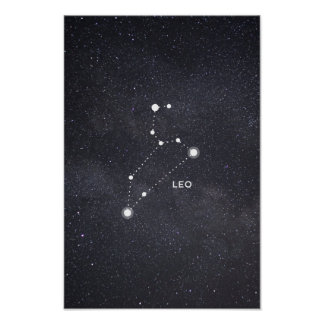 Leo Zodiac Constellation Poster