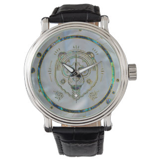 Leo Zodiac Gold Abalone on Constellation Watch