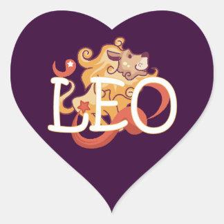 Leo zodiac heart sticker