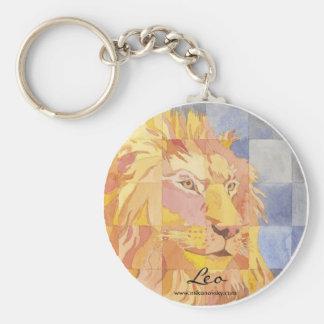 Leo Zodiac Key Ring