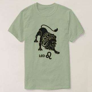 Leo Zodiac sign Black Gold Modern T-Shirt