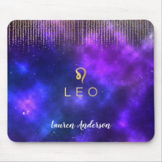 Leo Zodiac Sign Computer Mousepad