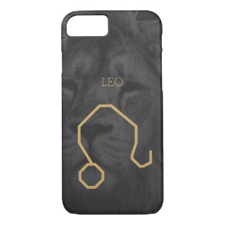 Leo Zodiac Sign | Custom Background + Text iPhone 8/7 Case