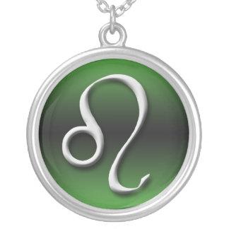 Leo Zodiac Sign Dark Gradient Green ~ Necklace