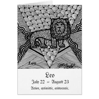 Leo  (Zodiac sign) Greeting Card
