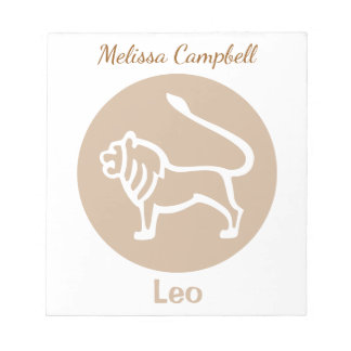 Leo Zodiac Sign Notepads