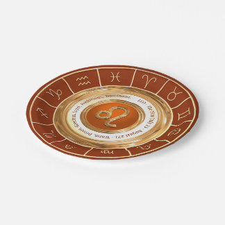 LEO Zodiac Sign Personality Traits 7 Inch Paper Plate