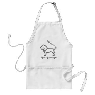 Leo Zodiac Star Sign In Light Silver Standard Apron