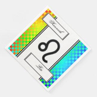 Leo Zodiac Symbol Standard by Kenneth Yoncich Paper Serviettes
