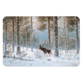 Leodinovich: Elk in the Forest Rectangular Photo Magnet