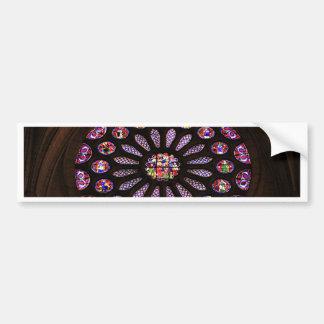 Leon Cathedral window, El Camino, Spain Bumper Sticker