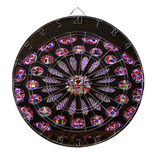Leon Cathedral window, El Camino, Spain Dartboard