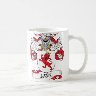 Leon Family Crest Coffee Mug