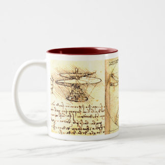 Leonado da Vinci Drawings 2 Two-Tone Coffee Mug