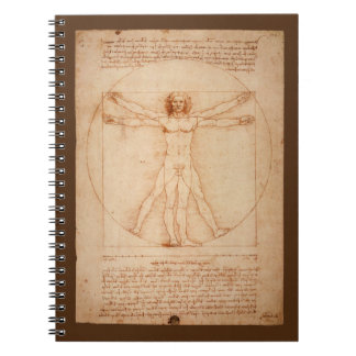 Leonard Da Vinci Anatomy of Man Vitruvian Man Notebook