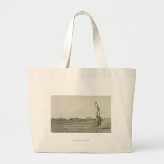 Leonard Stroud trick riding. Large Tote Bag