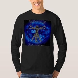 Leonardo Avatar - Vitruvian Man on Blue Sun Shirt