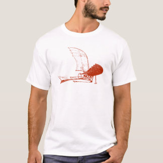 Leonardo da Vinci Airplane Flyer t-shirt